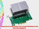 Bplus M2P4A : PCIe 3.0 X4 to M.2 (NGFF) PCIe SSD Adapter with SSD heat sink