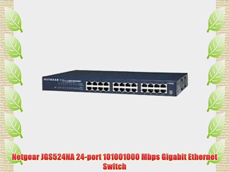 NETGEAR JGS524NA 24-Port 101001000 Mbps Gigabit Ethernet Switch