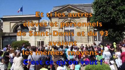 Action parents profs : occupation de l'école de la légion d'honneur (Saint-Denis)