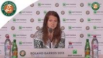 Conférence de presse Lucie Safarova Roland-Garros 2015 / Finale