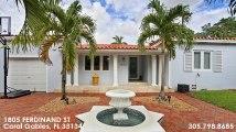 Single Family For Sale: 1805 FERDINAND ST Coral Gables, FL $795000