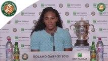 Press conference Serena Williams 2015 French Open / Final