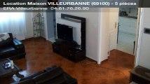 A louer - Maison - VILLEURBANNE (69100) - 5 pièces - 145m²