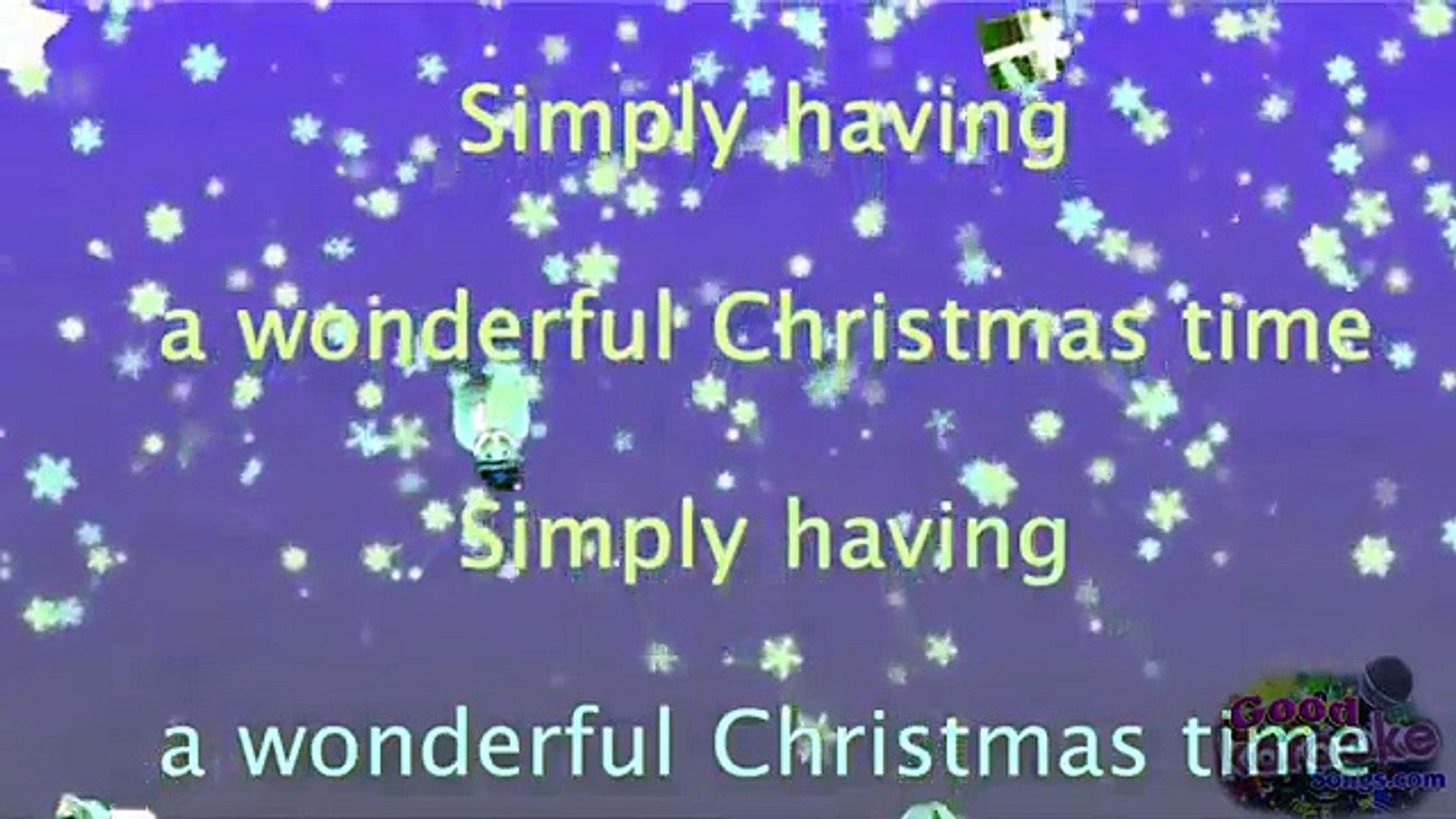 Simply Having A Wonderful Christmas Time.Paul Mccartney Wonderful Christmastime Karaoke Version Beat Lyrics
