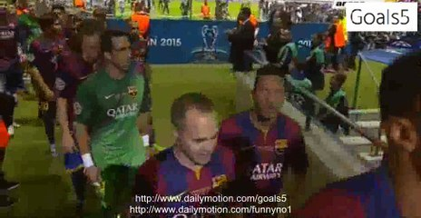 Juventus 1 - 3 Barcelona Winner Ceremony Champions League FINALS 6-6-2015