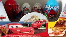 Surprise Eggs Unboxing Kinder Disney Pixar Cars 2 Lightning Mcqueen Angry Birds,