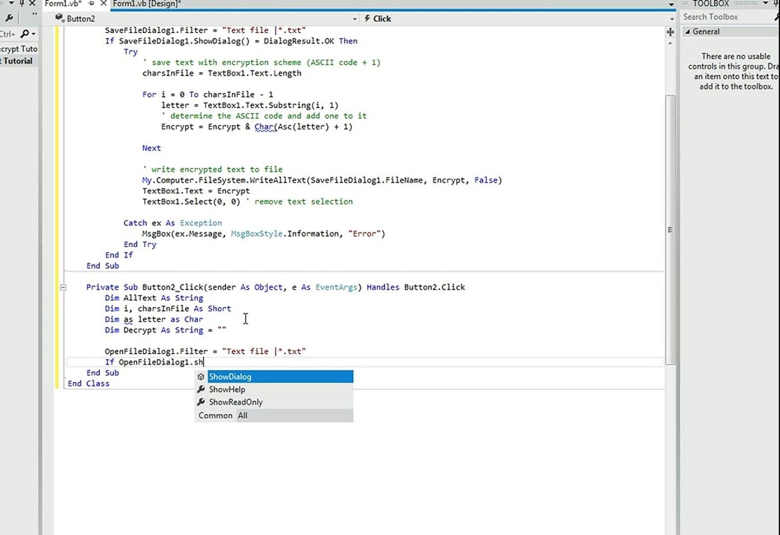 Visual Basic Tutorial: How to Encrypt and Decrypt Data