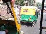 Auto-rickshaw ride in New Delhi, India