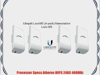 Bundle of 4 Ubiquiti Nanostation LOCO M5 Outdoor MIMO 11n 5GHz  locoM5 (4  pack)