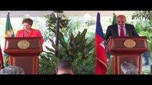 Visite de la présidente du Brésil en Haïti, S.E.M Dilma Rousseff