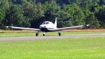 Overloaded airplane take-off at Zwartberg