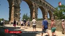 Le pont du Gard gratuit aux randonneurs, pas les autres marcheurs