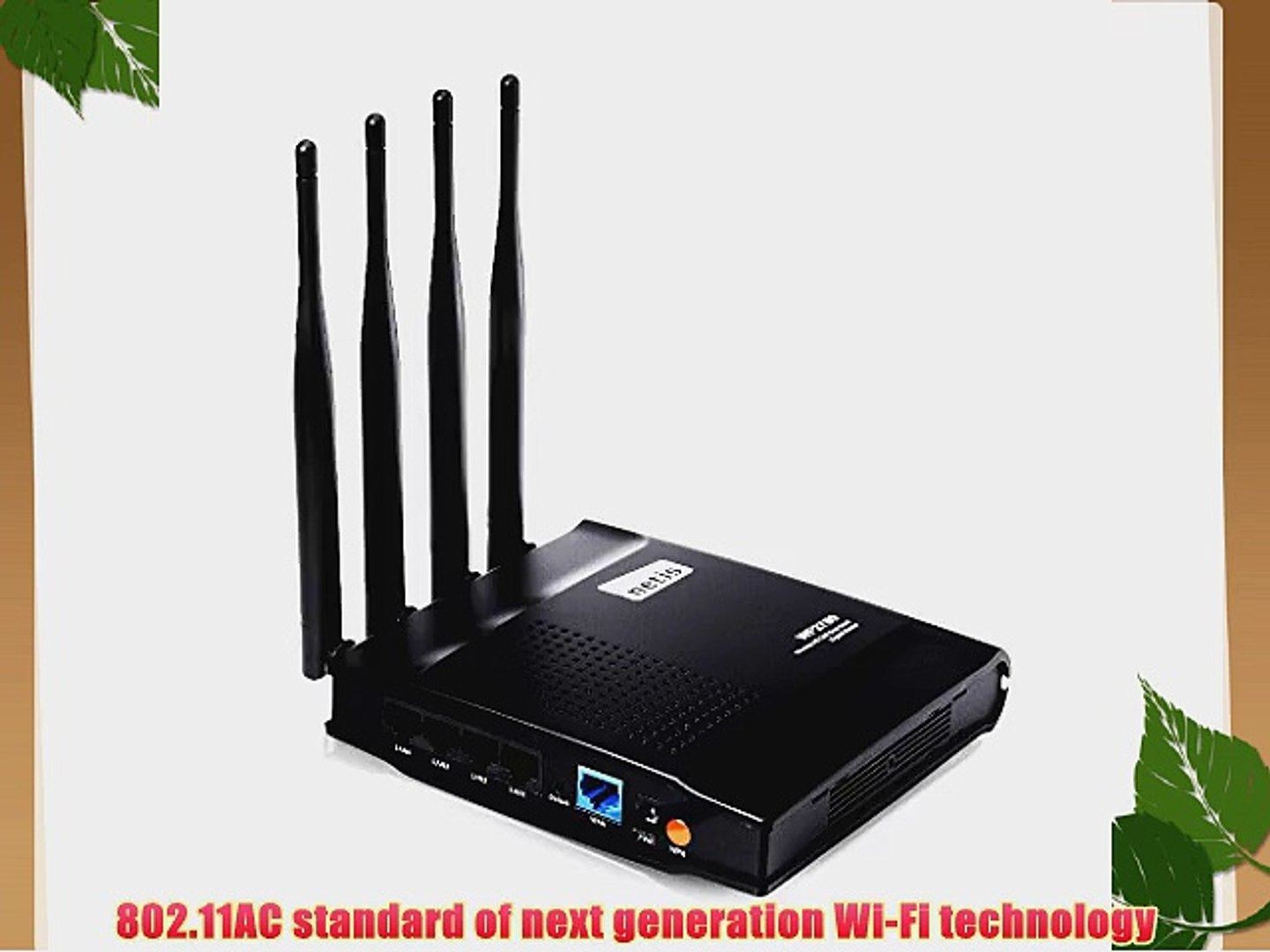 Netis WF2780 Wireless AC1200 Router Access Point And Repeater All in One  Advanced QoS WPS Setup