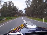1934 Chevy Hot Rod run through Tocumwal bends.