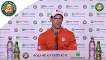 Conférence de presse Novak Djokovic Roland-Garros 2015 / Finale
