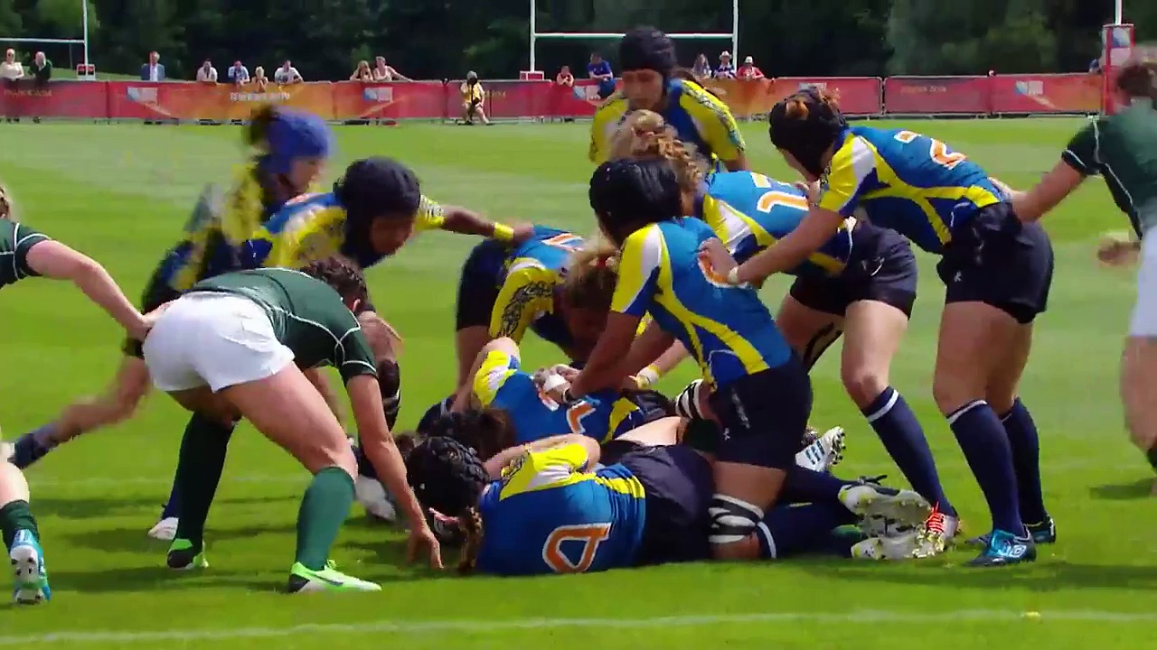 [HIGHLIGHTS[ Ireland 40-5 Kazakhstan at Women's Rugby World Cup
