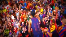Neymar Kiss Barcelona`s Fans and receive a Big Mac on parade 2015