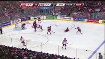 """Domi"" Chant Fills the Air Following a Max Domi Shot Block (Canada vs. Denmark, January 2, 2015)"