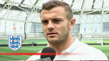Post match interview with Jack Wilshere and England debutant Jamie Vardy