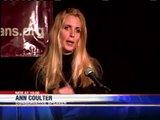 """Ann Coulter Slams Political Correctness at UWM; Protested by """"Zombies"""" - Video 4/20/10"""