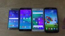 Samsung Galaxy S6 Edge vs. Galaxy Note 4 vs. Galaxy A7 vs. Galaxy Mega 6.3 - Which Is Faster