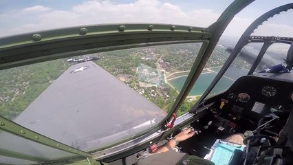 Cockpit Footage TBM Avenger Emergency Landing Arsenal Of Democracy VE Day Flyover