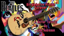 Strawberry Fields Forever - The Beatles - Acoustic Guitar Lesson (easy)