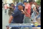 SOLTV PIURA SERENAZGO DE CASTILLA Y PIURA CAPTURAN A ARREBATADORES EN PLENO CENTRO DE PIURA