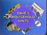 Retro Letterman - Dave's Household Hints!
