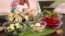 Brochetas de verduras con salsa de yogur - Recetas rápidas Nestlé