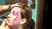 TAG Berry One Stroke Eye Face Painting | Marvelous Masks Chicago Face Painter