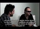 Juanes y Lars Ulrich de Metallica