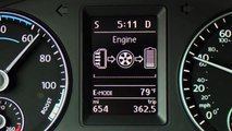 VW Jetta Hybrid Digital Energy Display Dashboard Functions