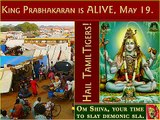 King Prabhakaran ALIVE - confirmed on TVI & Hindus. July 28. (Memory Vanni Tamil Eelam Genocide LTTE Tamil Tigers Hindus Indian Army Sikhs Om)