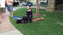 COPS CRASH POOL PARTY: Texas cop slamming a black girl to the ground at a pool party