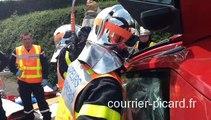 Montdidier : les pompiers volontaires passent leur examen secours routier