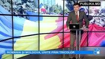 """Eveniment deosebit la Prut. România și Moldova, unite de un tricolor imens. Panglica uriaşă a fost întinsă peste podul de la Sculeni. """"Vrem să demonstrăm la toată lumea că suntem un mare popor. Vrem să fim în România Mare."""""""