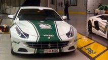 Lamborghini Aventador vs Ferrari FF Dubai Police Cars