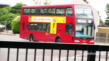 Buses, trucks and traffic at Rom Valley Way, Romford, East London, 8th June 2015