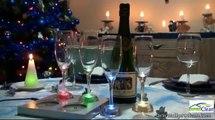 Coupes de champagne à Led rechargeables en verre.