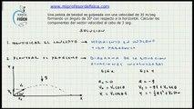 Ejercicio Movimiento en un plano - Cinemática - Mi profesor de Fisica - Video 028