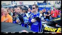 Caroline Burns National Anthem at NHMS NASCAR