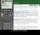 TI-83/84 - Using 1 Var Stats to Find Mean and Standard Deviation