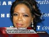 Oprah Winfrey  Campaigns for Obama in Iowa NH