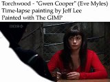 Torchwood - Gwen Cooper (Eve Myles) - Time-lapse painting