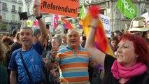 Abdica Rey Juan Carlos   Protesta en Madrid en contra de la Monarquia Española
