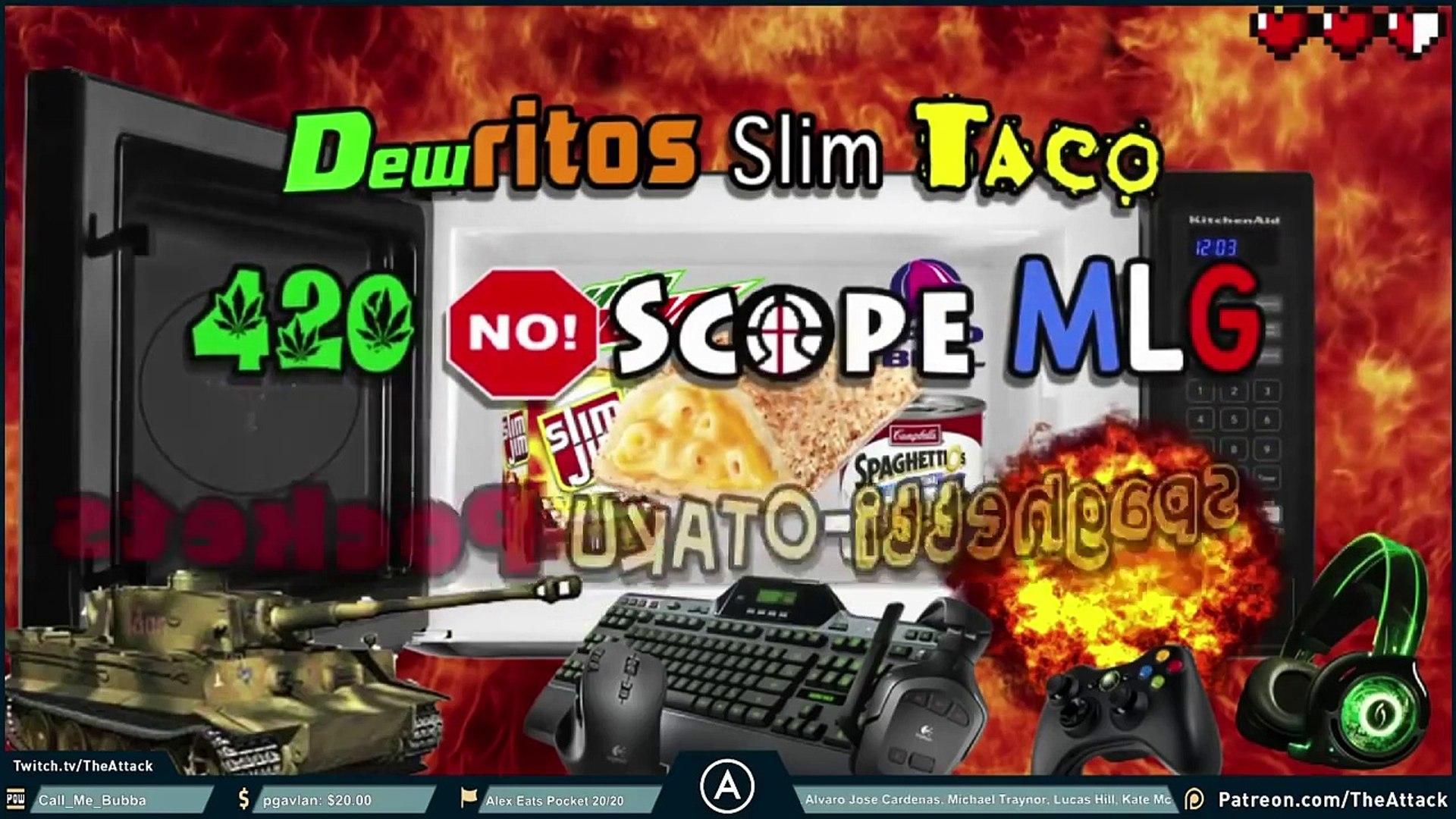Dewritos Slim Taco 420 No Scope MLG Spaghetti Otaku Pockets Challenge!