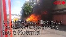 Un véhicule utilisé pour le désherbage prend feu à Ploërmel