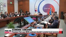 President Park expresses concerns over economic impact of MERS outbreak