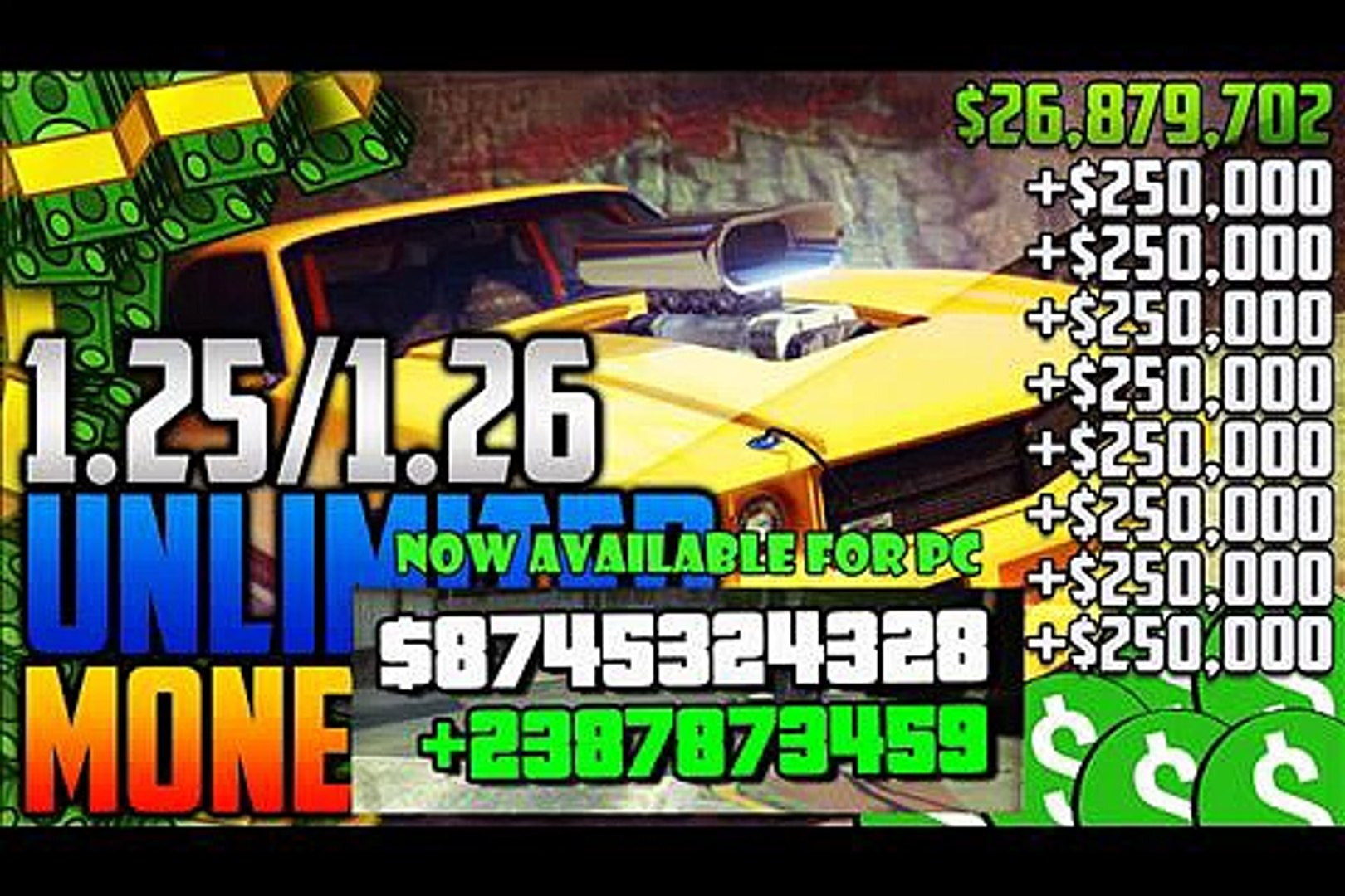 [PATCHED] GTA 5 ONLINE SOLO MONEY GLITCH - DUPLICATE CARS EASY - AFTER PATCH 1.26 (PS4/XBOX1)